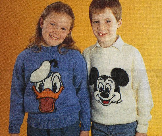 vintage Adult and Childs DONALD Duck & MICKEY Mouse by borisbeka, $3.75
