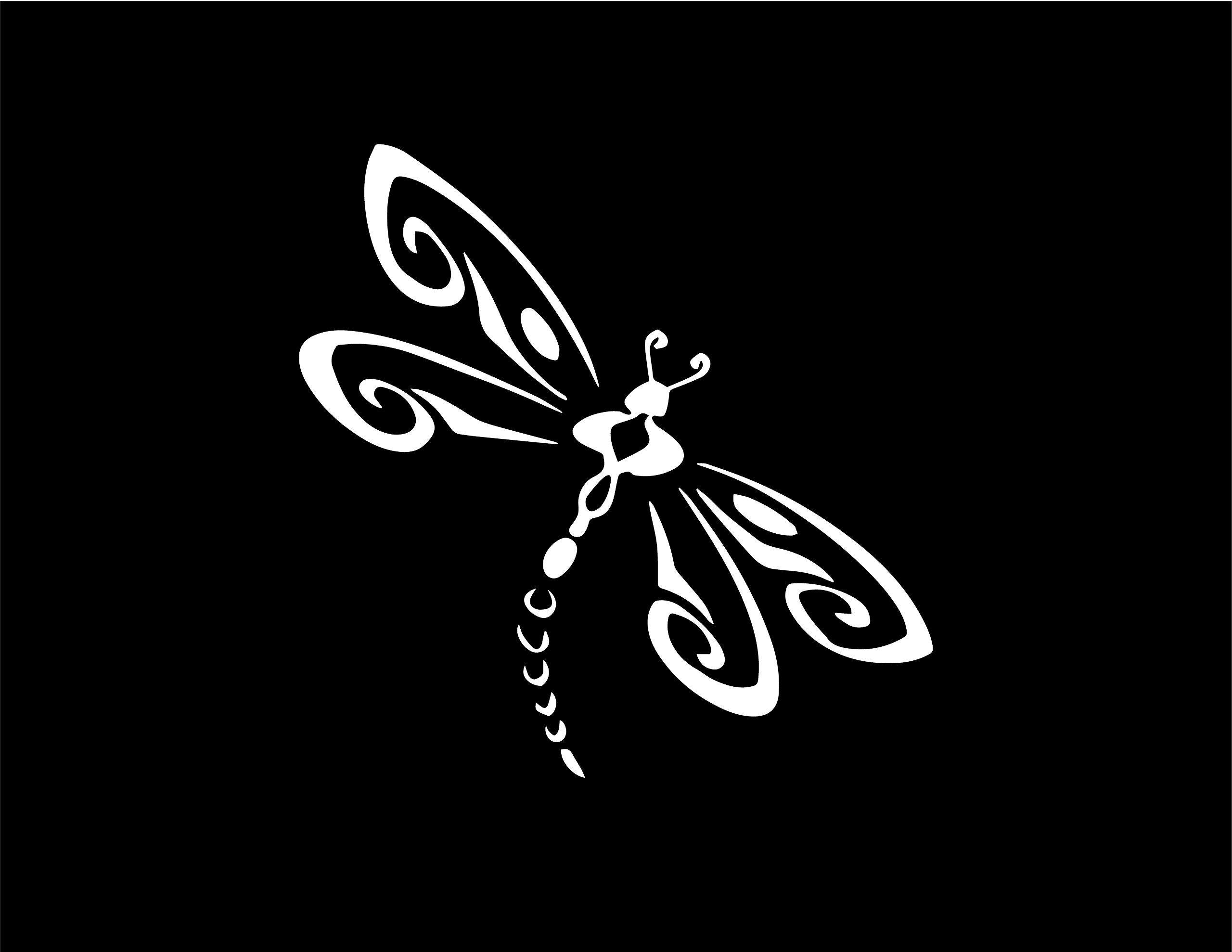 DRAGONFLY White 5 Vinyl STICKER//DECAL New