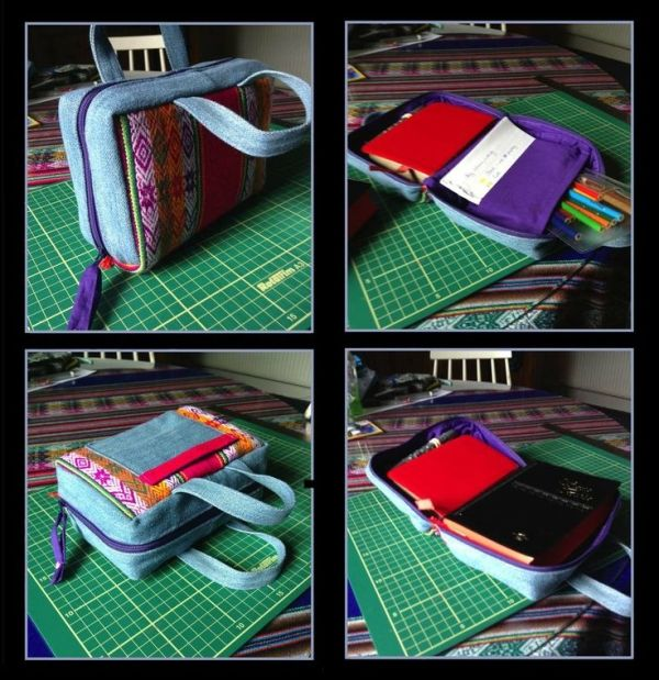 Fabric Book Covers Make Your Own : Zippered bible cover sewing tutorial by pkayfit