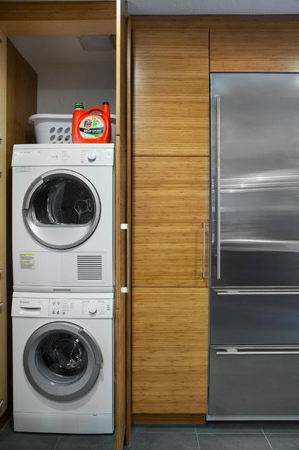 Small Stackable Washer Dryer Laundry Room Modern With Laundry