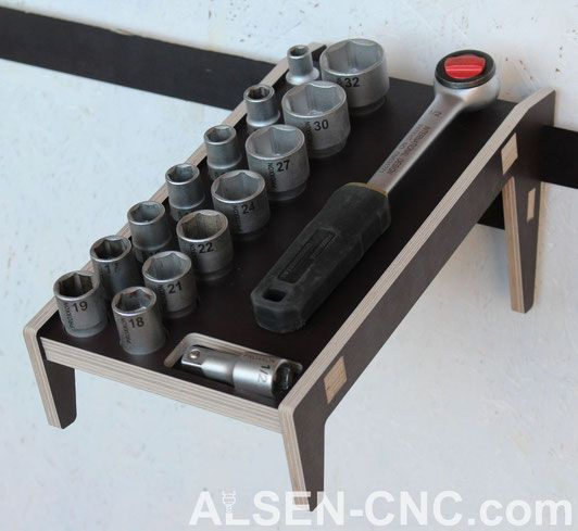 Photo of French Cleat – hand tool holder – ALSEN-CNC