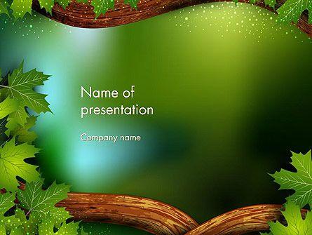 Plantilla De Powerpoint  Cuento Forestal  Plantillas