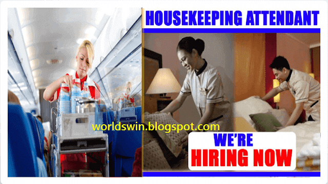 Airlines Cleaners Attendant Jobs For Canada