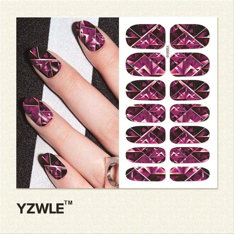 YZWLE 1 Sheet Water Transfer Nails Art Sticker Manicure Decor Tool ...