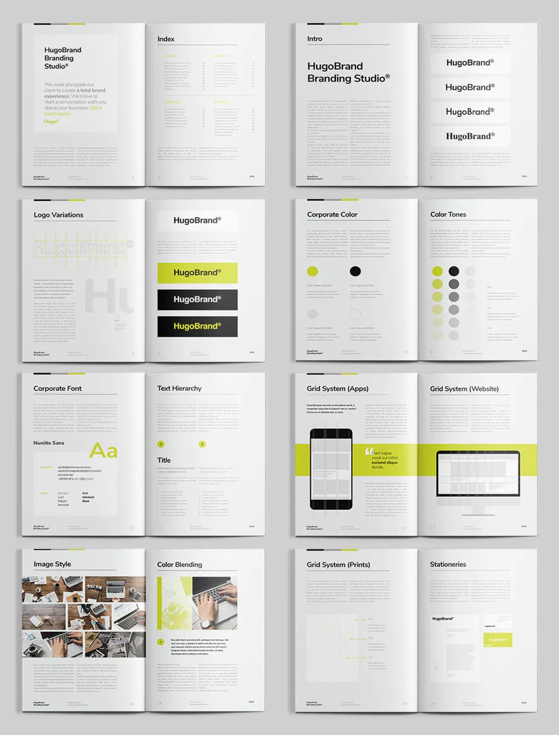 Brand Manual Template Indesign Indd 20 Pages A4 And Us Letter