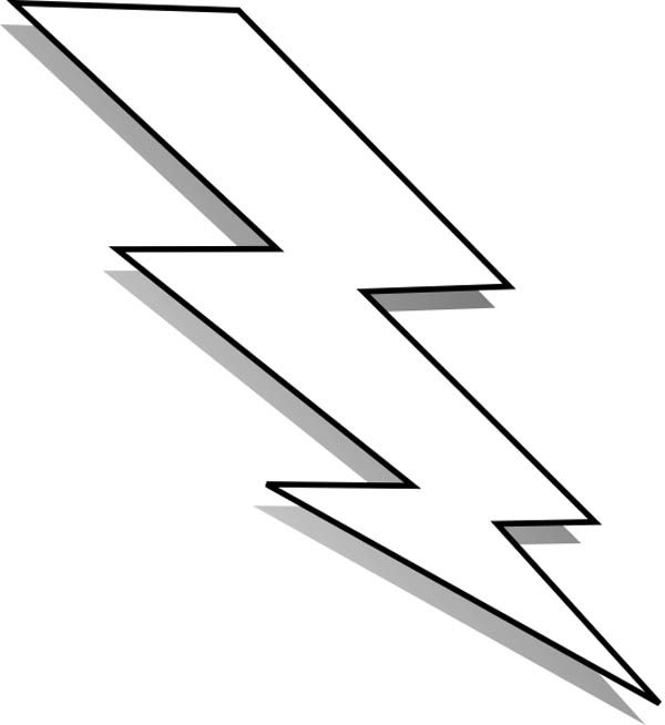 Lightning Colouring Pages Lightning Bolt Free Stencils Lightning