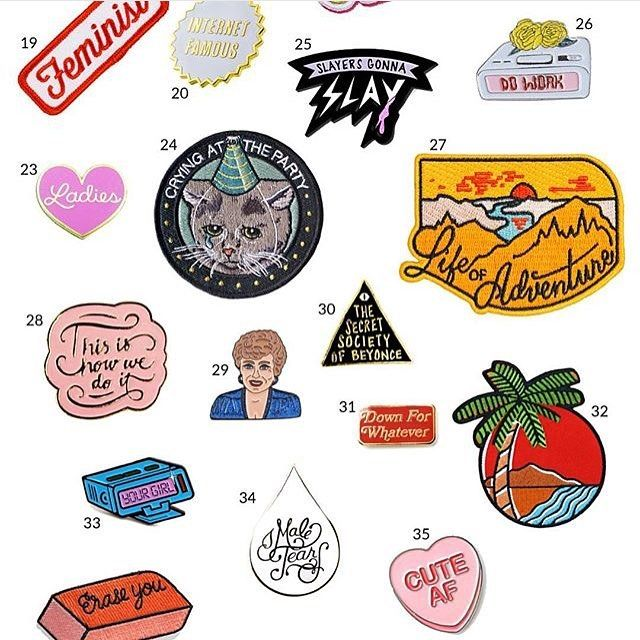@ladyhustlemag featuring our 'IDK Why' beeper pin with a batch of other great pins and patches. We have less than 10 of these left! Order some now. #pingame #patchgame #pinsofig #lapelpin #lapelpins #enamelpins #pins by horriblepenmanship