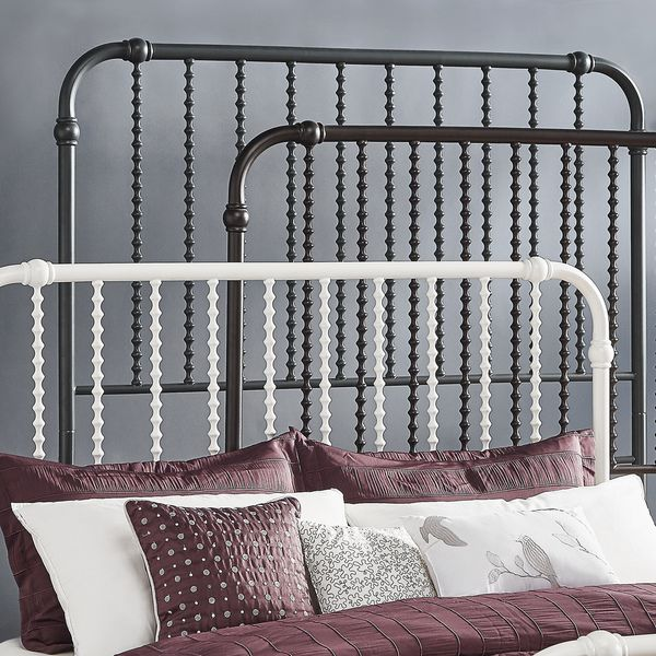 inspire q gulliver vintage antique spiral king iron metal bed