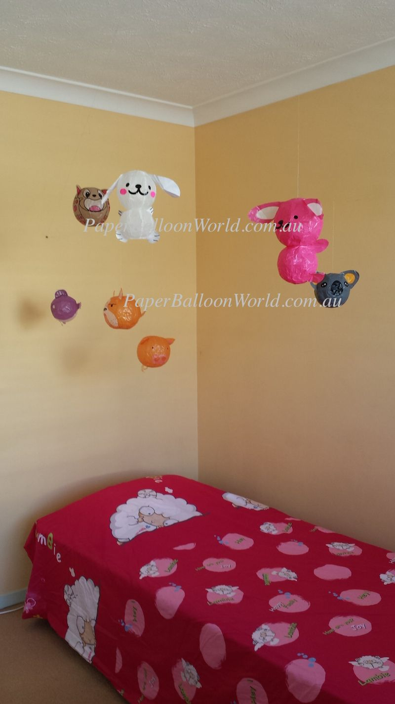 puppy dog, rabbit, cat, koala, fish, piggy, dog for kids room decoration.