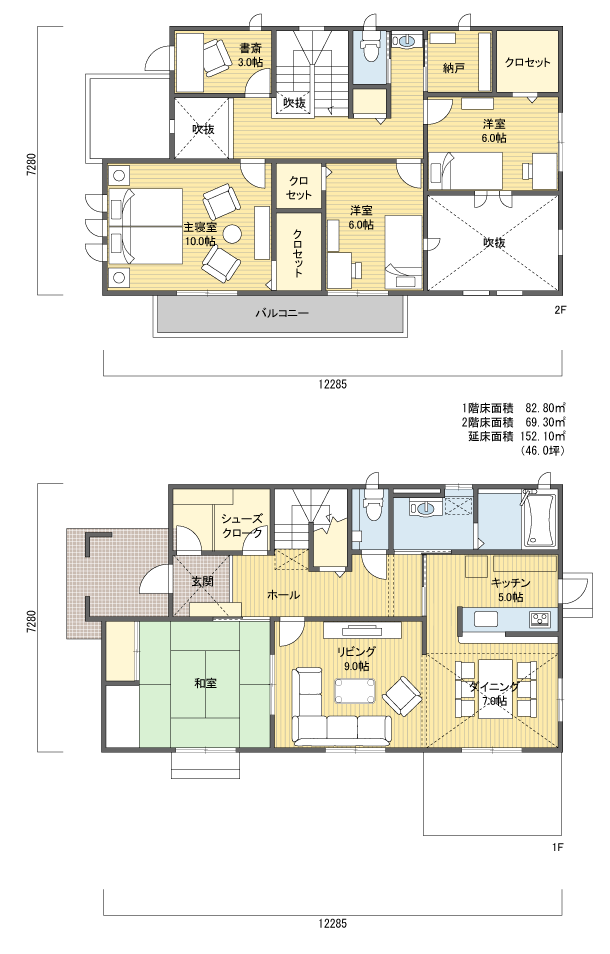 間取り 2階建 40 50坪 西玄関 間取り 40坪 間取り 2階 間取り