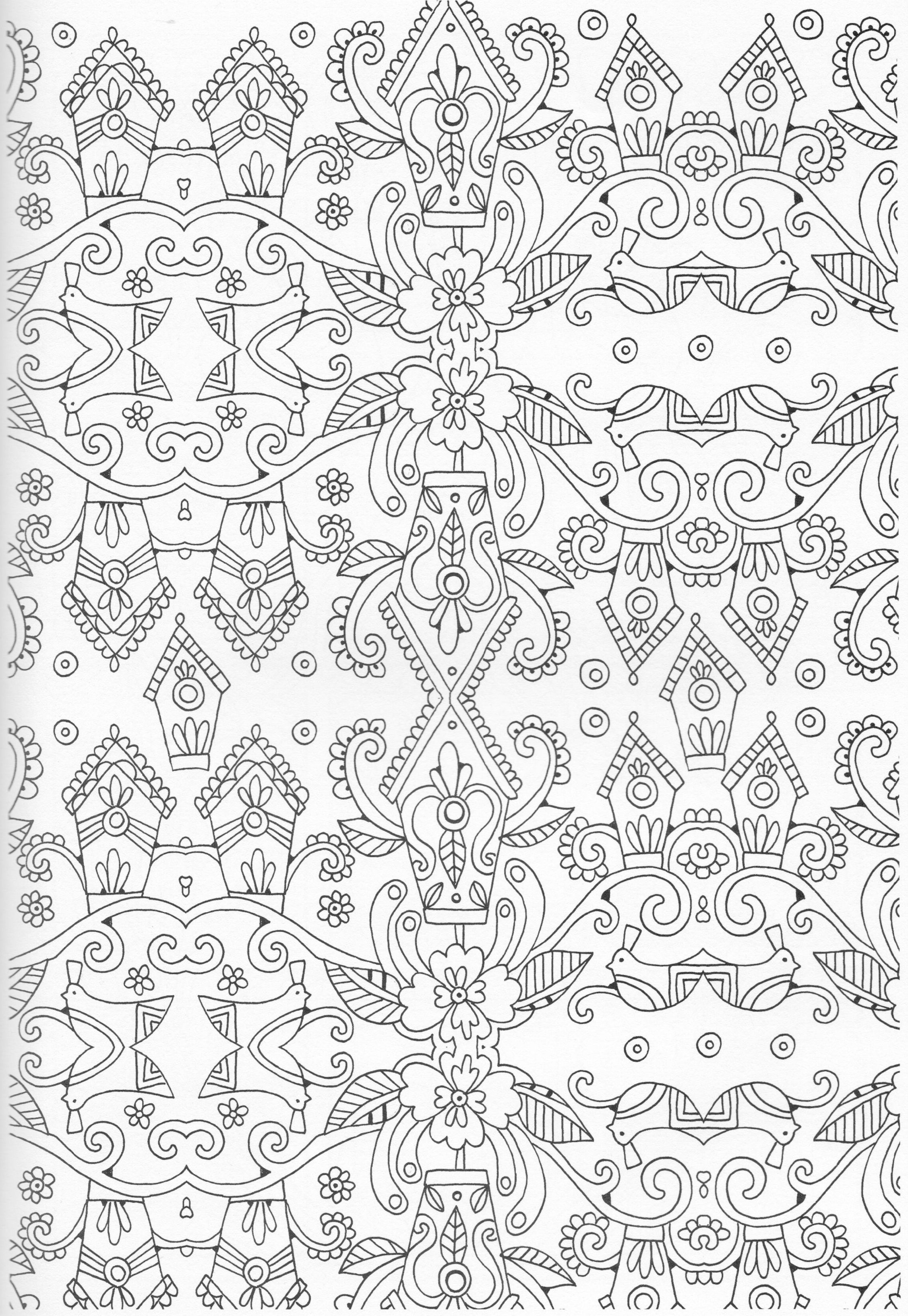 Scandinavian Coloring Book Pg 37 Color Pages Stencils