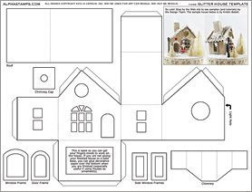 Great Glitter House Template Collage Sheet