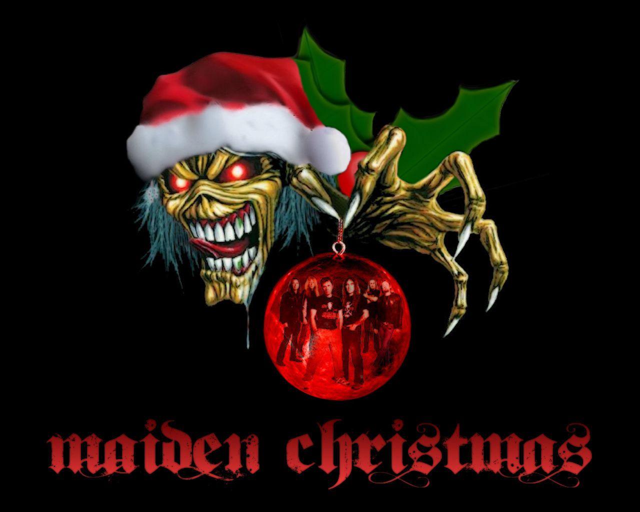 Have A Rockin Christmas Gallery Iron Maiden Eddie Heavy Metal Christmas Maiden