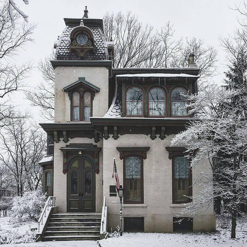 Steampunk Tendencies Snowy Victorian Houses Part 2