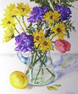 Winter Scenes and Still Lifes - Paintings - Marsha S. Owen Watercolors