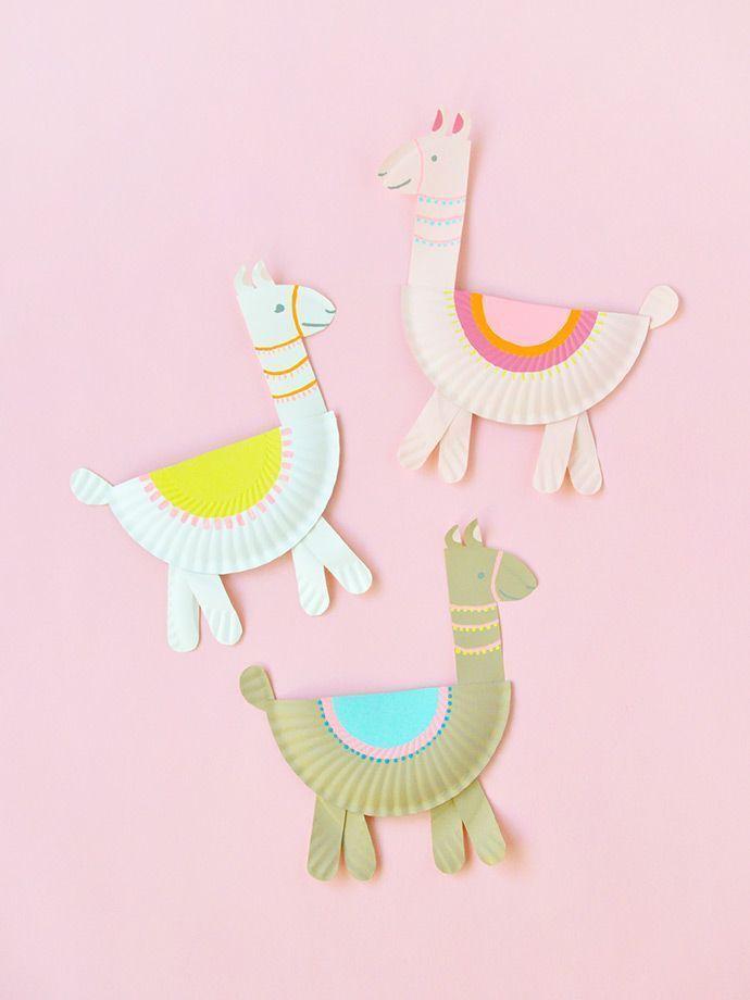 Photo of Pappteller Lamas ⋆ Handmade Charlotte, #Charlotte #diyhomecraftsbakingsoda #Handmade #Llam …