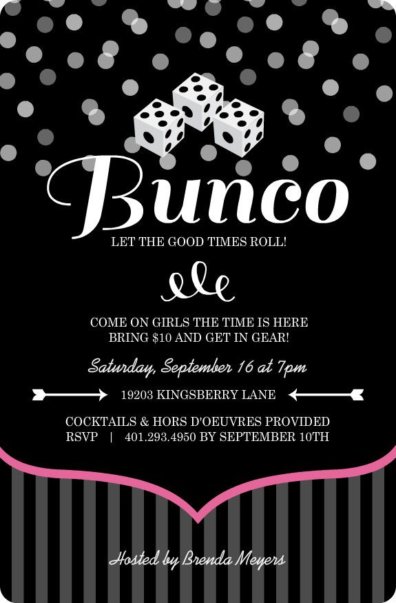 Bunco Invitation Wording Yahoo Image Search Results