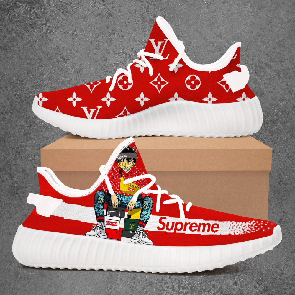 adidas yeezy boost 350 v2 x supreme lv white red