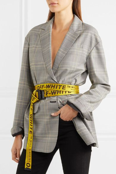 Off White Industrial Embroidered Canvas Belt Yellow Mode Mode Tendance Fringues
