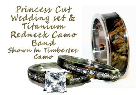 Camo Wedding Rings For Him And Her Camoring Com Camo Rings And