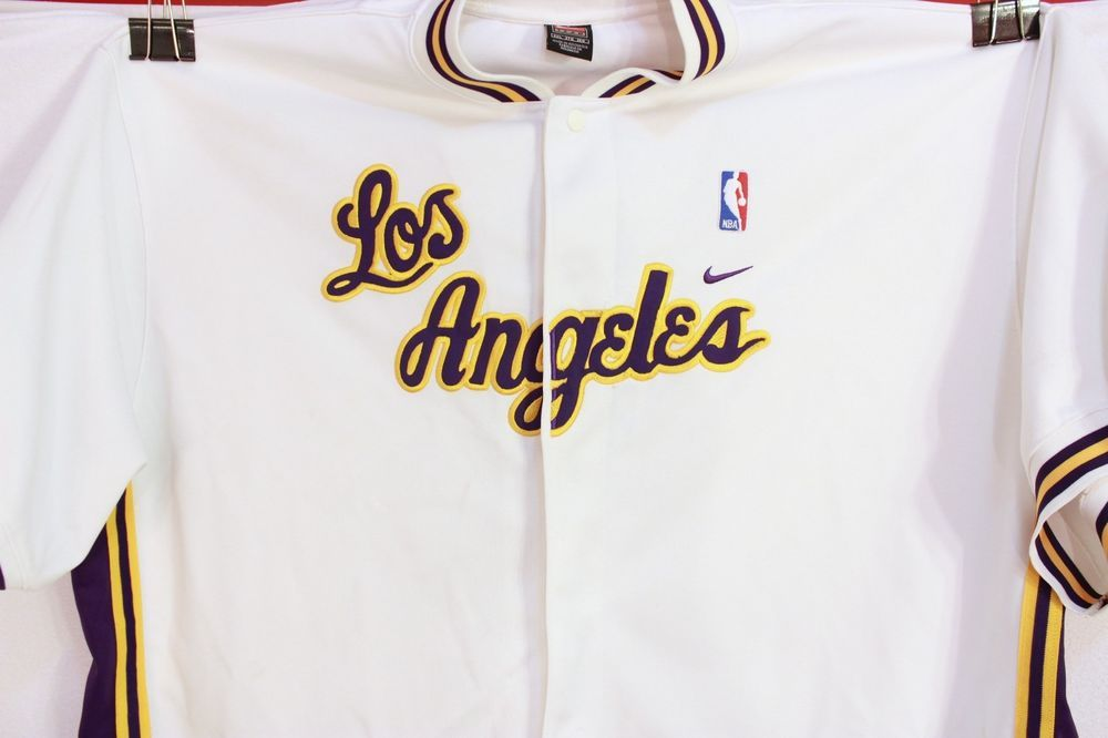 2e35aa0ef0f NBA LOS ANGELES LAKERS TEAM NIKE WHITE RETRO WARM UP SHOOTING JERSEY MENS  3XL  Nike  LosAngelesLakers