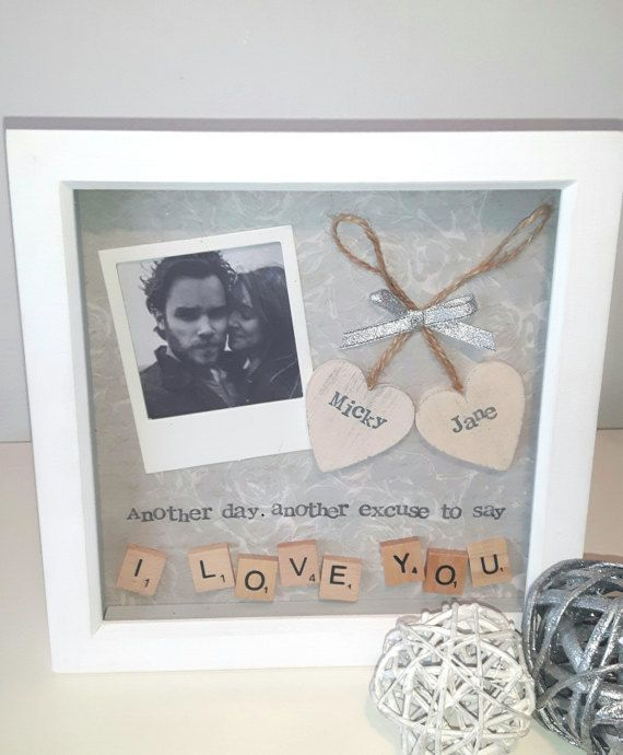 Anniversary gift, Wedding Present Partner, Personalised Scrabble Art ...