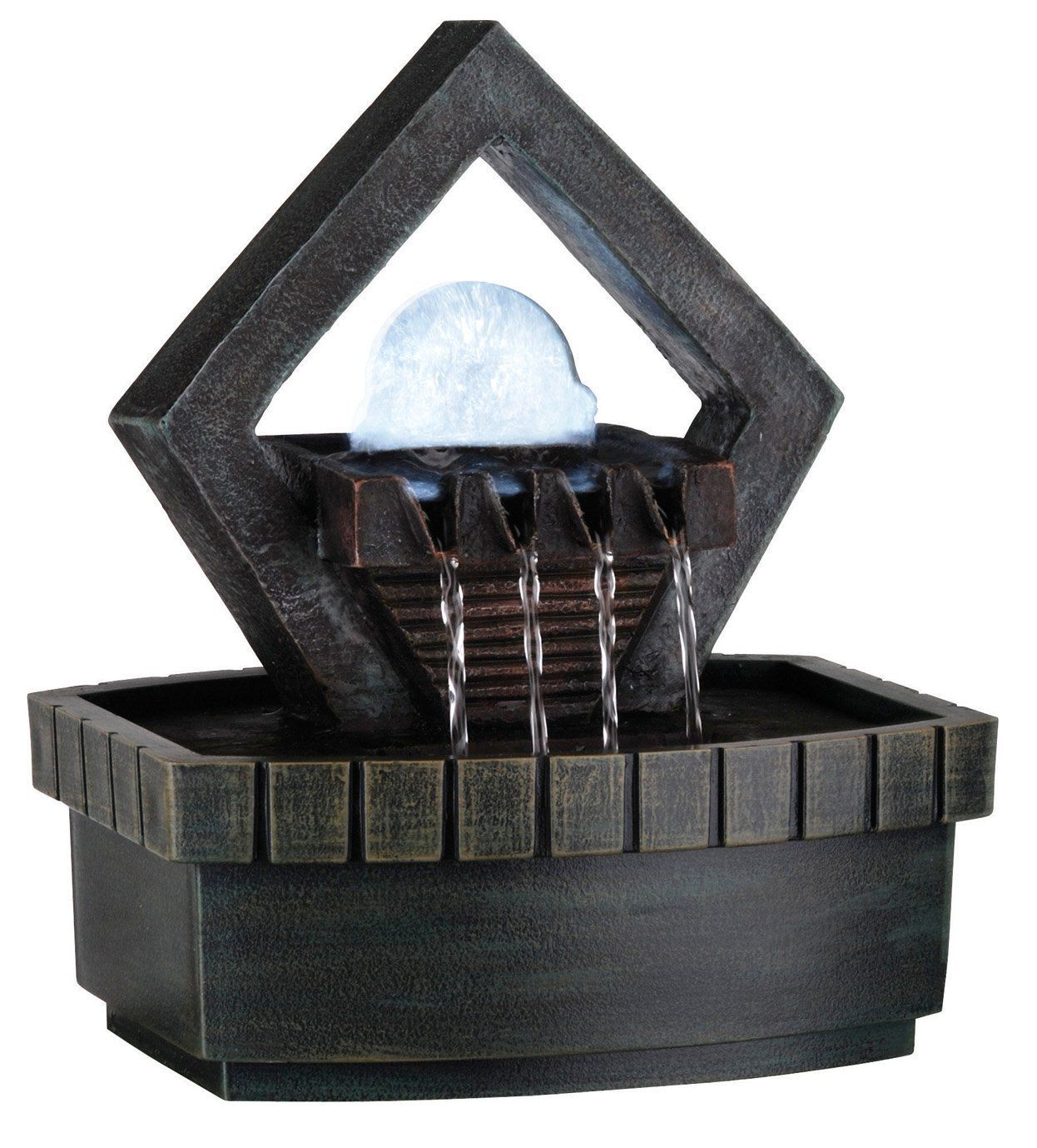 This Ore International Indoor Meditation Fountain Is Perfect For Creating A  Soothing Atmosphere. This Indoor Fountain Features A Green Earth Tone  Color, ...