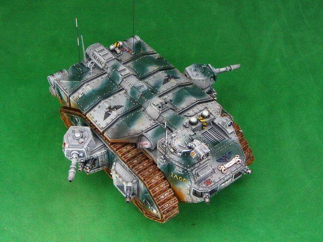 Warhammer 40k Imperial Guard baneblade side sponson heavy flamers