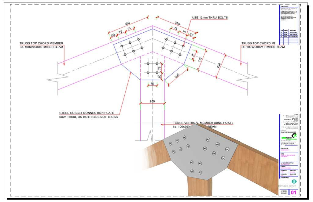Timber Truss Steel Gusset Plate Member Connection Roof Truss Design Timber Roof Timber