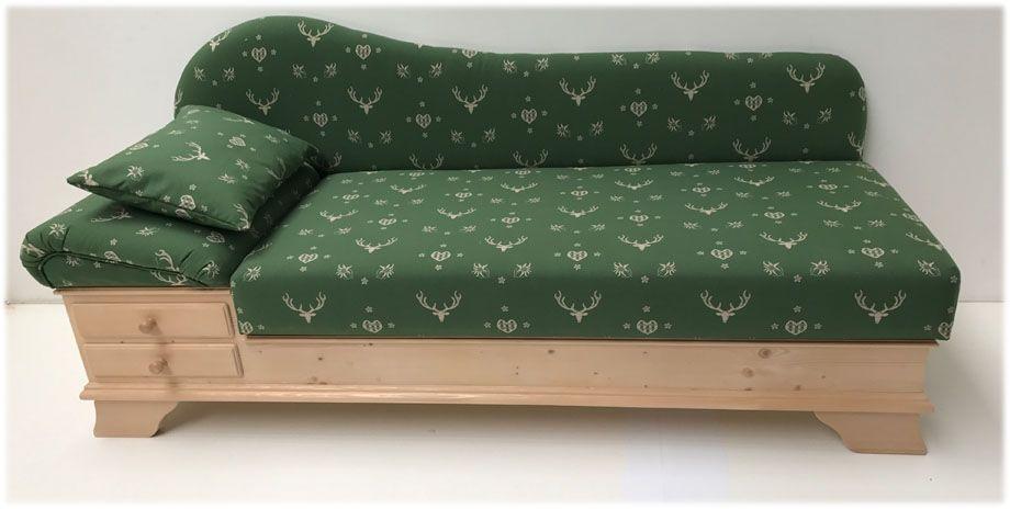 Sofa Liege Chiemgau Stoff Edelweiss AF-74854-4 grün - Landhausmöbel ...