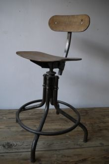 chaise haute atelier industrielle Bienaise metal et bois | CasaHome on