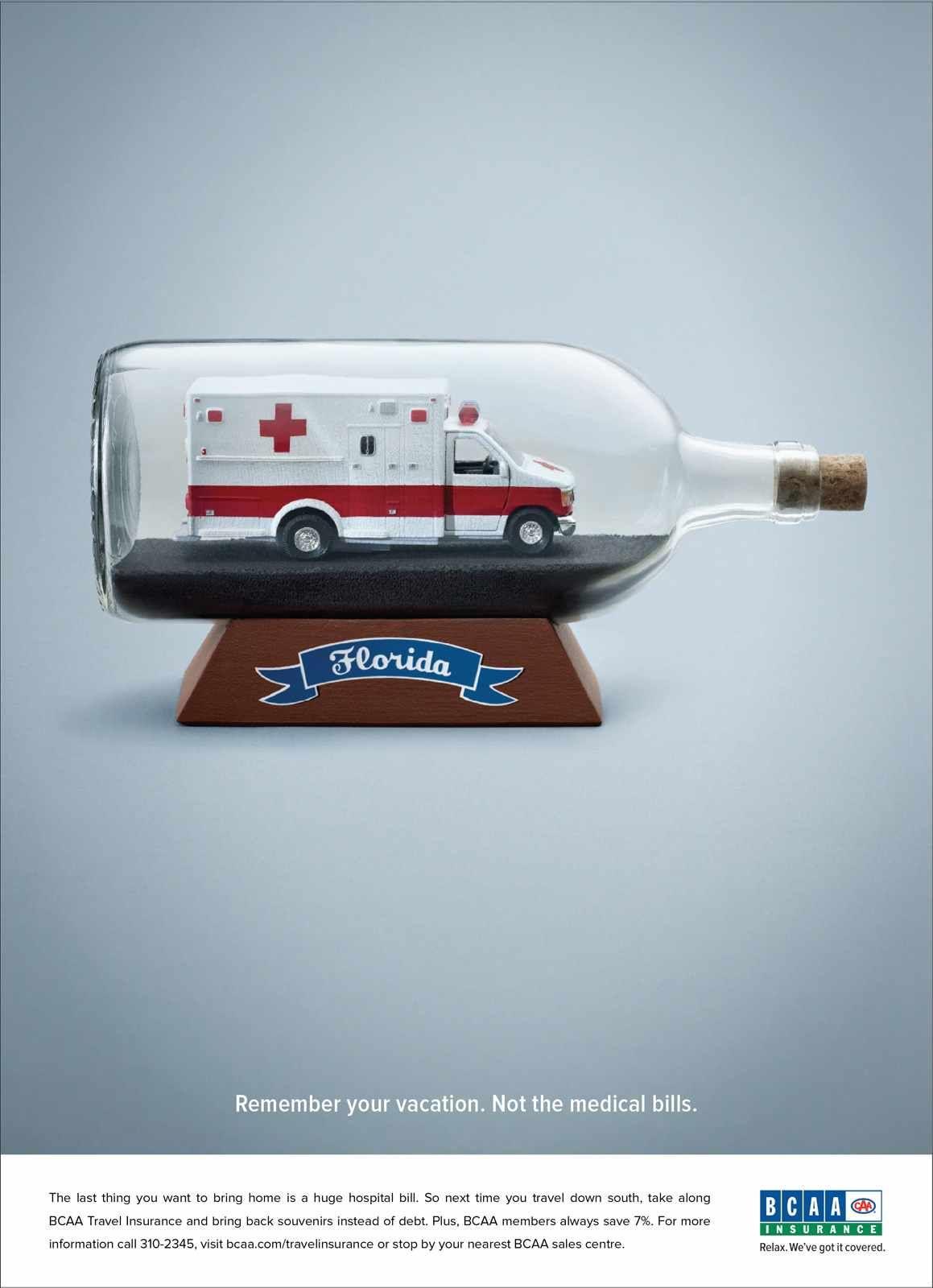 BCAA Travel Insurance Bottle