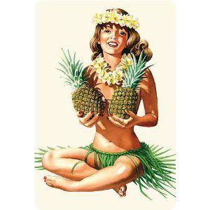 Vintage hawaiian pin up was and