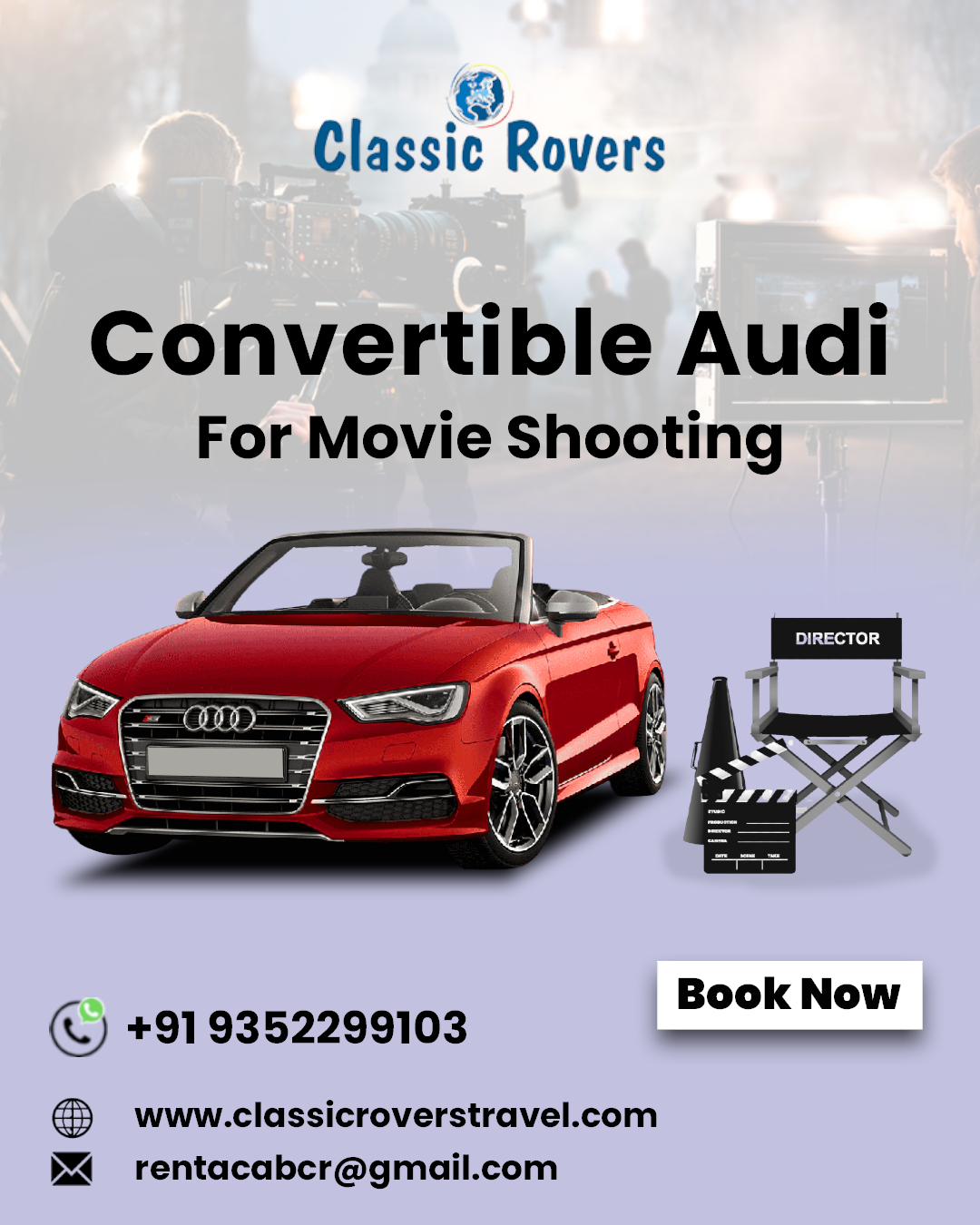 Book Convertible Audi For Movie Shooting Luxury Car Rental Car Rental Luxury Cars