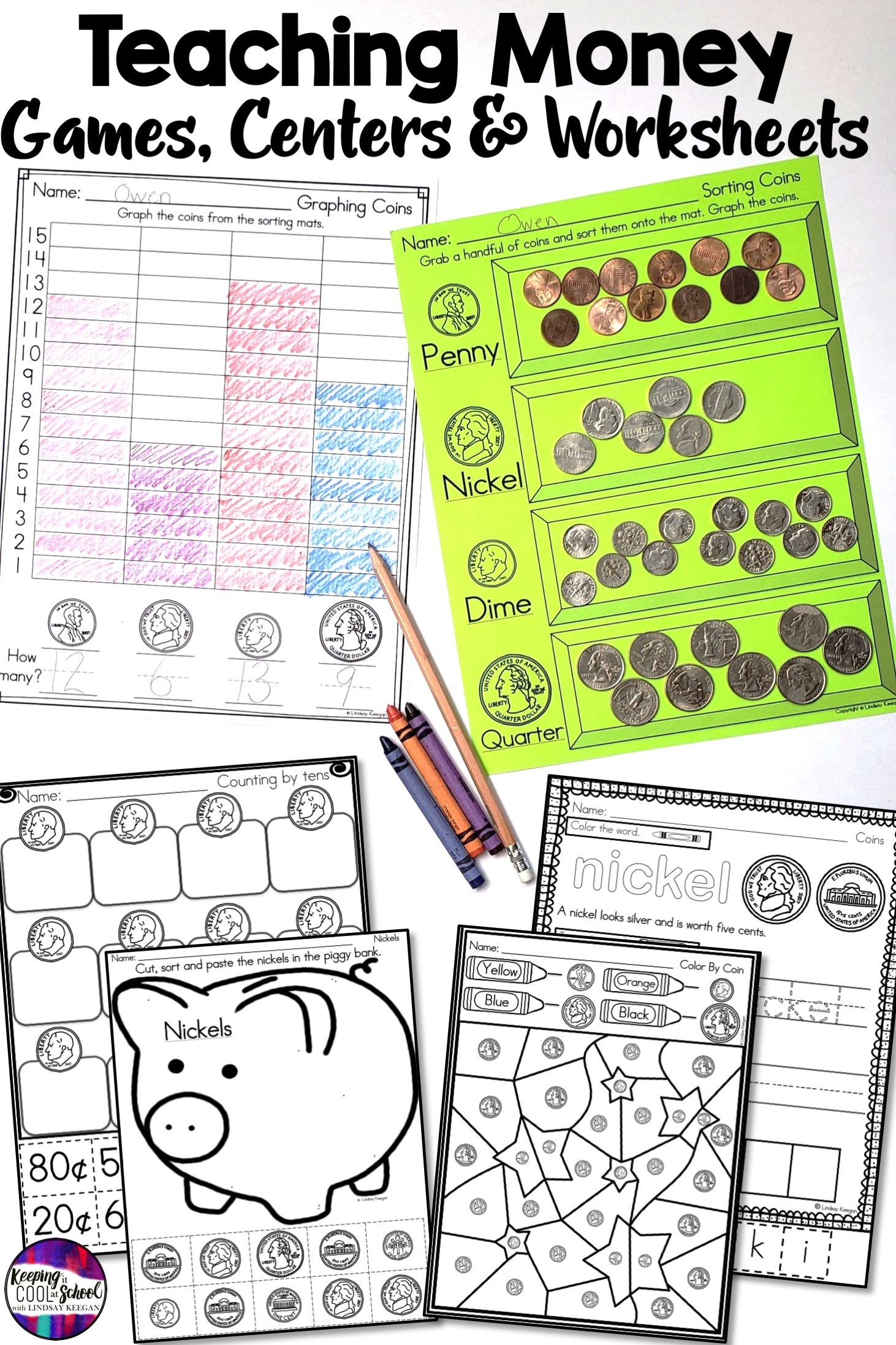 Money Is Fun For Kids When You Are Teaching Using These Printables And Money Games These Math Works Counting Money Worksheets Money Worksheets Teaching Money [ 2193 x 1462 Pixel ]