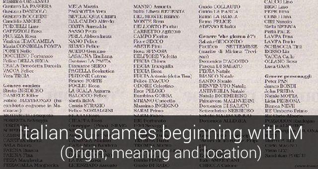 Imagenes De Italian Surnames That Start With B