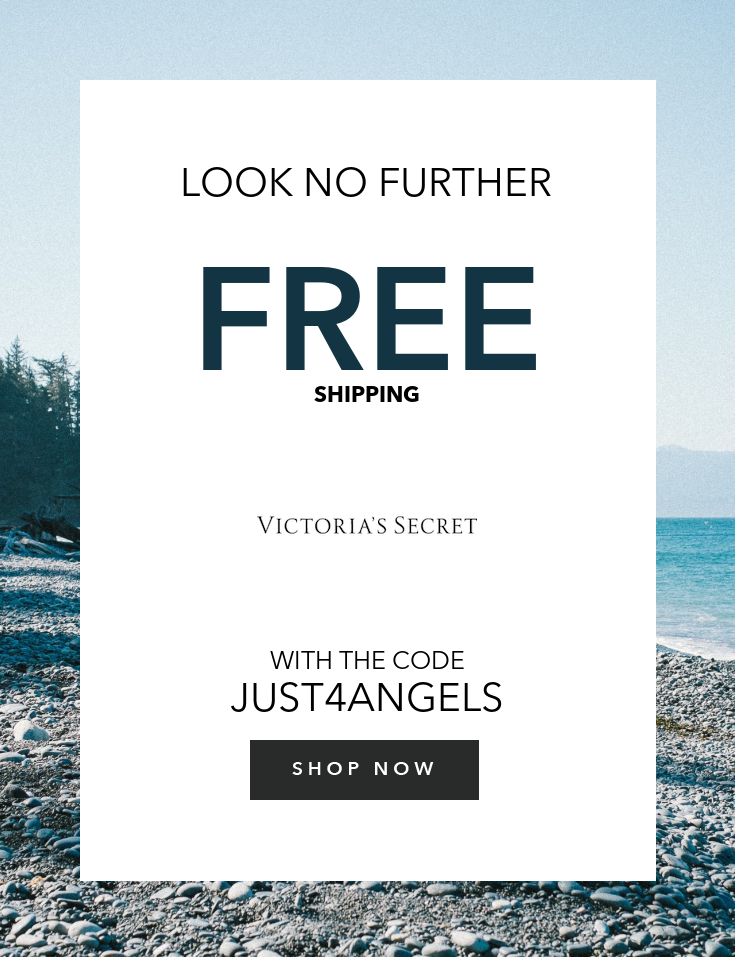 da17bbe679adc Free Shipping using your Angel Card | Victoria's Secret Coupons ...