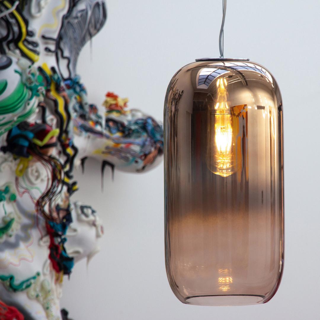 Artemide Gople Glaspendellampa Belysningsdesign Glas Mode Design