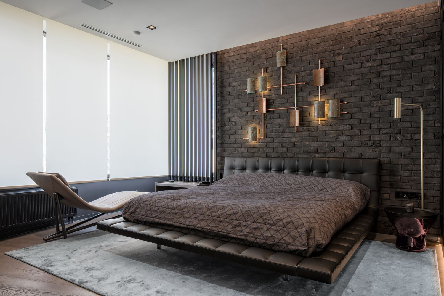 Modern Apartment With A Marked Industrial Style Designed For A Young Businessman Contemporary Interior Design