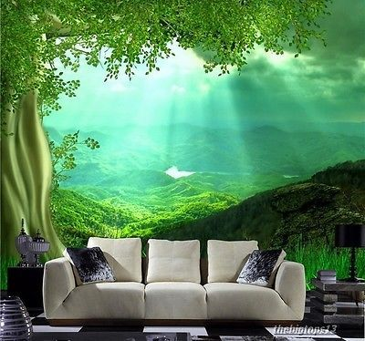3d Wallpaper Bedroom Mural Roll Nature Scenery Forest Sunlight Wall Background Tree Wallpaper Living Room Wall Wallpaper Large Wall Murals