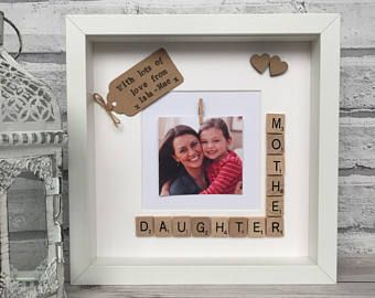 Mother And Daughter Scrabble Frame Motherdaughter Frame Gift For