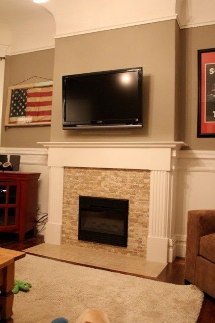 Image result for wall hanging fireplace ideas   Fireplace ...
