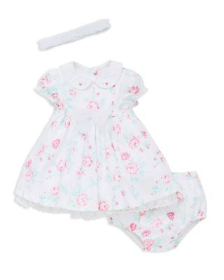 Little Me Infant Girls Floral Dress Bloomers Headband Set