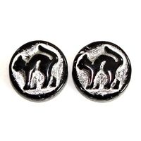Buttons with cat motif