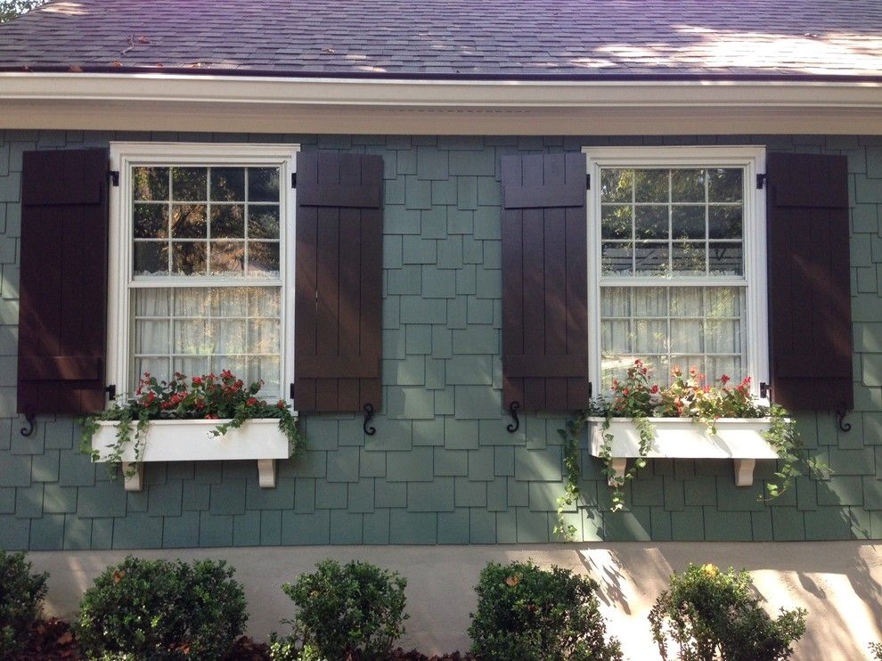 Craftsman Style Shutters Exterior Craftsman With Board And Batten Shutters For The Home