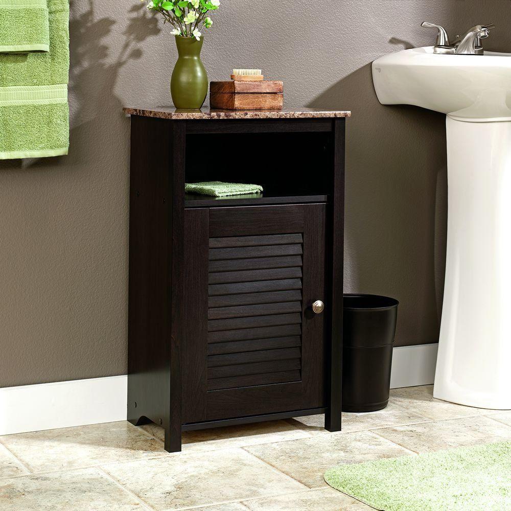 Bathroom floor cabinet storage door shelf granite top furniture home