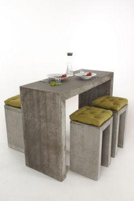 bartop 150 hocker und bartisch aus faserbeton minimal design m bel mit klarer kante. Black Bedroom Furniture Sets. Home Design Ideas