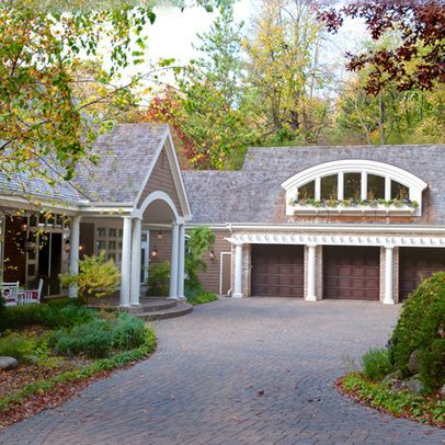 Farmhouse With Attached Garage Design Ideas Pictures