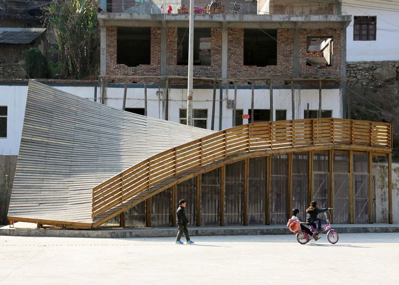 The Pinch Community Library In China Turns A Roof Into A Playground Architecture Library Architecture World Architecture Festival