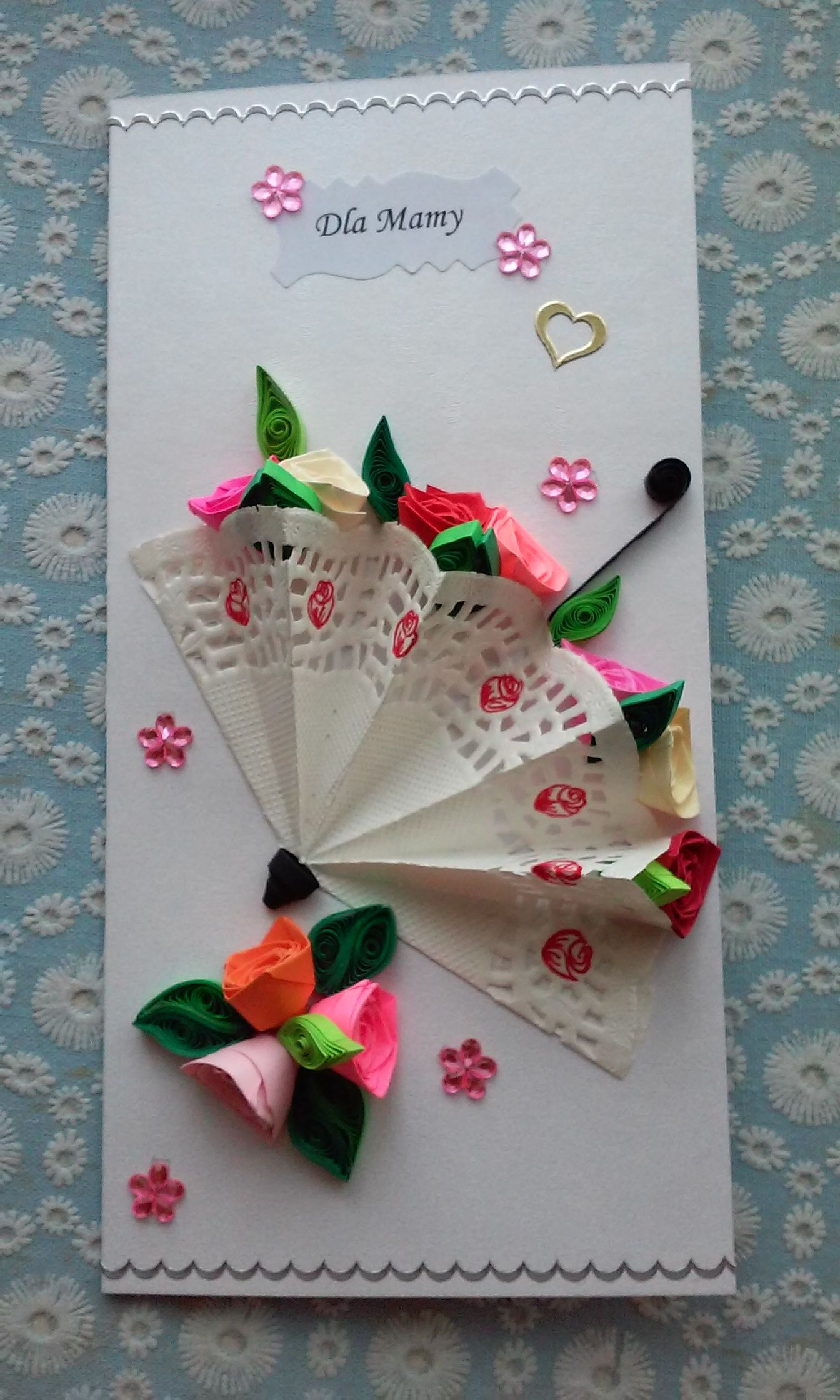 Kartka Na Dzien Matki Quilling Kids Craft Gifts Crafts Craft Gifts